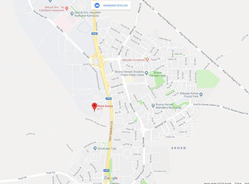 RİXOS-KONYA-MAP